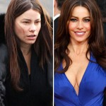Sofia Vergara with and without make-up