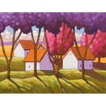 Abstract Purple Pink Trees by C. Horvath