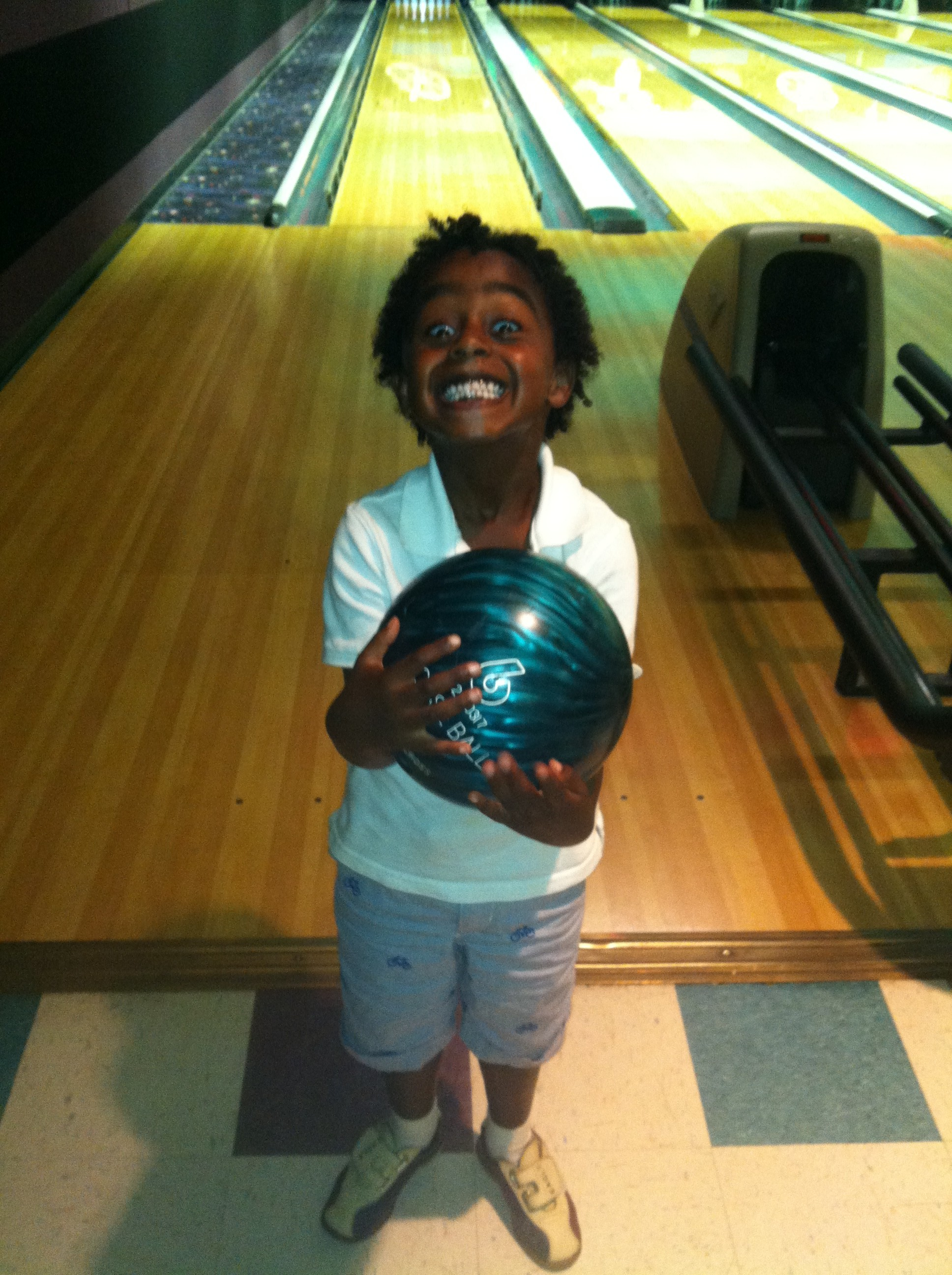 Throwing things? Knocking things down? Making lots of noise? Someone in this family LOVES to bowl!
