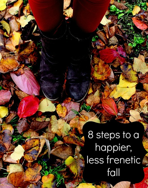 8 steps to a less frenetic fall