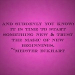 The Happy Sheet: The Magic of New Beginnings
